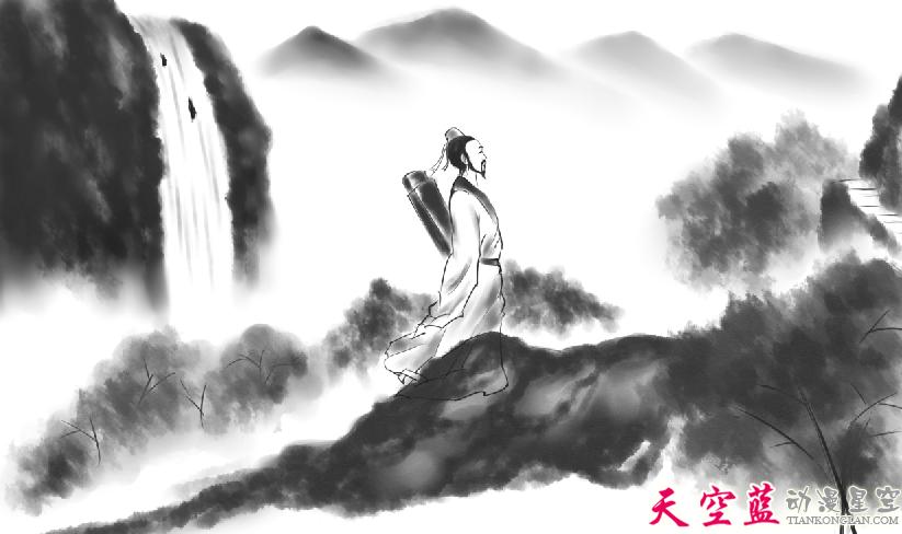 二维水墨动画故事片制作:汉阳民间传说《高山流水遇知音》 动画制作 第4张