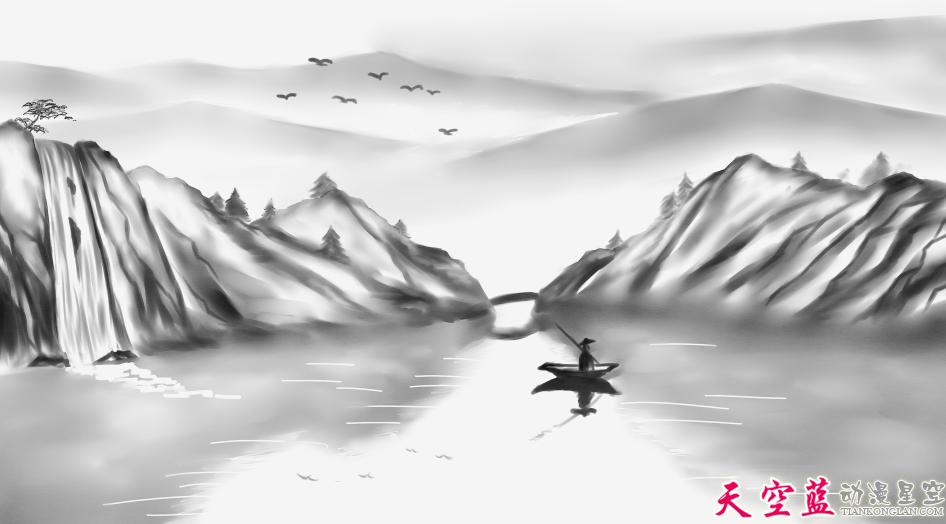 二维水墨动画故事片制作:汉阳民间传说《高山流水遇知音》 动画制作 第5张