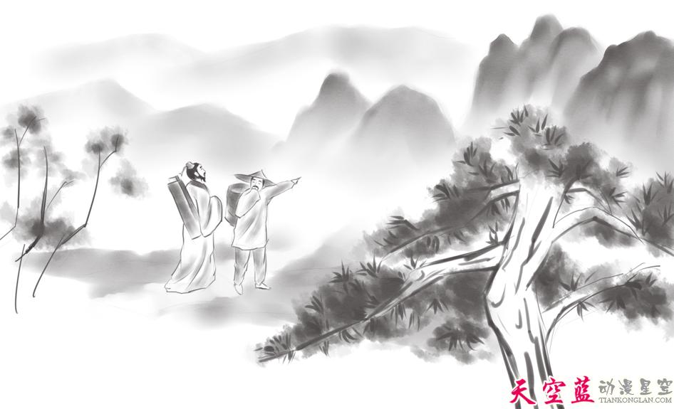 二维水墨动画故事片制作:汉阳民间传说《高山流水遇知音》 动画制作 第6张