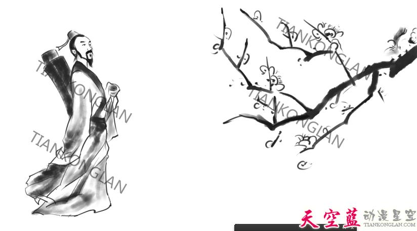 二维水墨动画故事片制作:汉阳民间传说《高山流水遇知音》 动画制作 第7张
