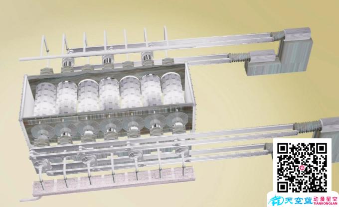 武汉七辊联动式齿辊卸料器3D工业仿真机械动画制作