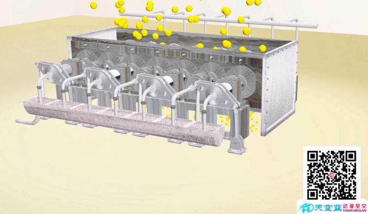 武汉七辊单动式齿辊卸料器3D工业仿真机械动画制作