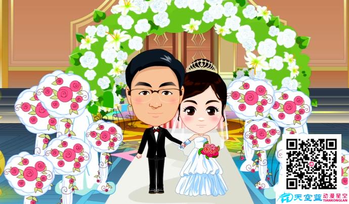 Flash婚礼动画制作:美的城,爱的人