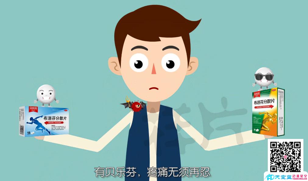 二维MG医药动画制作:贝乐芬止痛片宣传动画广告片
