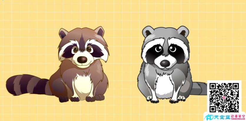 Flash动画制作《如何区分貉和浣熊》
