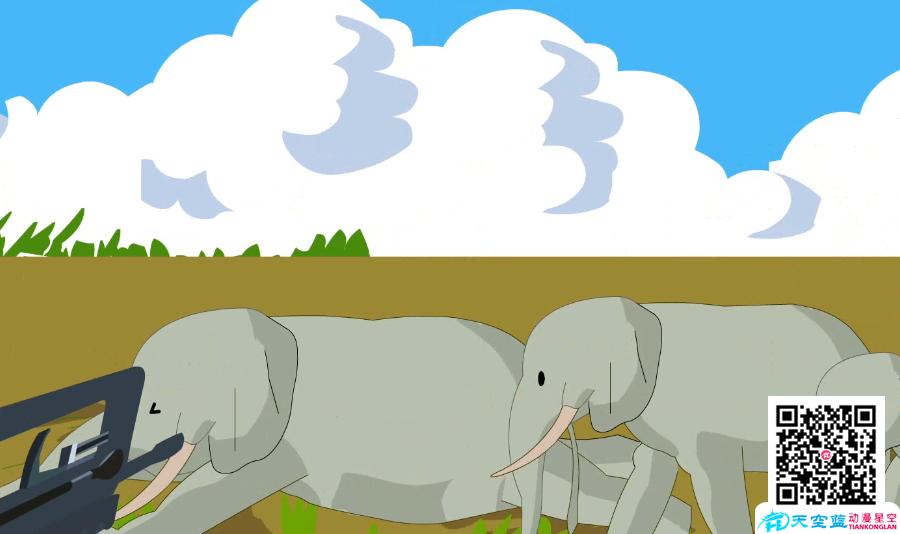 【Flash动画制作】为什么越来越多的大象生来就没有象牙