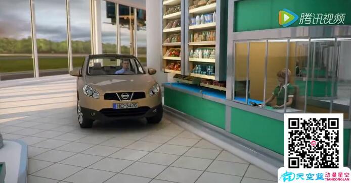 未来超市购物体验三维虚拟仿真动画演示: