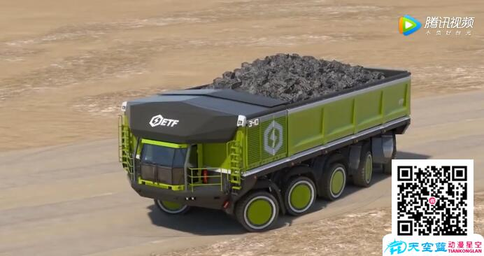 超强功能3D动画宣传视频-德国概念重型卡车