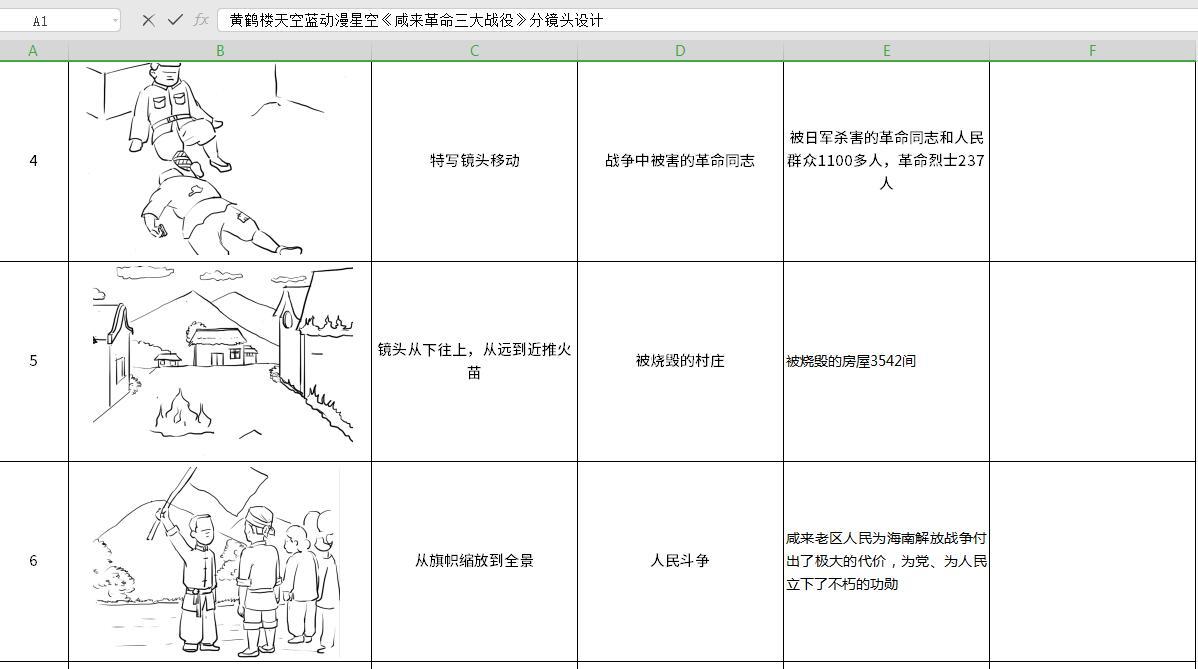 mg动画制作《咸来革命三大战役》抗日战争革命动漫宣传片分镜4-6.jpg