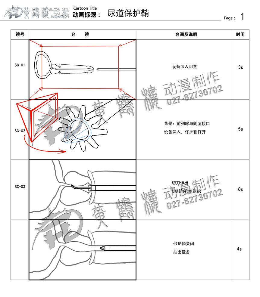 尿道保护鞘分镜头设计